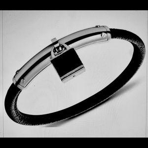 Michael Kors Black Leather Bracelet